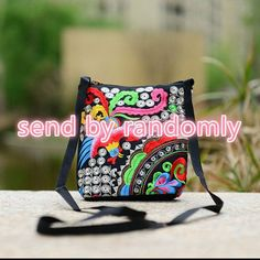 New Chinese Style Exquisite Embroidery Bucket Shoulder Bag Female Small Messenger Bags Women Canvas Handbag Crossbody Bags