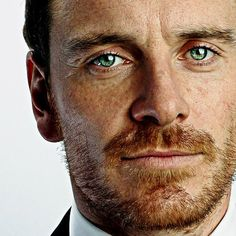 Michael, green eyes, ginger beard. It doesn't get better than this.