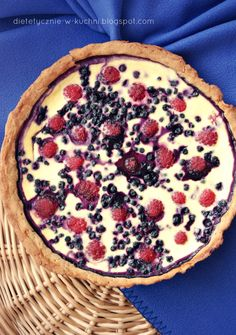 Moje Dietetyczne Fanaberie: Tarta jogurtowa z letnimi owocami