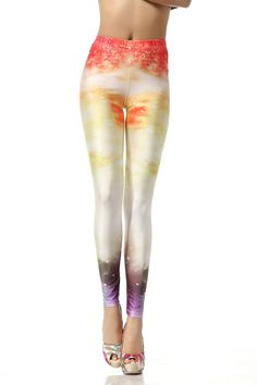 SEXY LADY GALAXY LEGGINGS PRINTED COSMIC SPACE PANTS TIE DYE TIGHTS NEW SUMMER FASHION CASUAL SOLAR FLARES GALAXY PATTERN 3D DIGITAL PRINTING SEXY LEGGINGS FOR WOMEN
