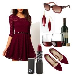 """""""Red Wine"""" by jilld727 ❤ liked on Polyvore featuring Libbey, Alexis Bittar and Valentino"""