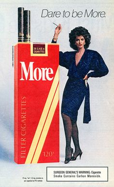 Earlier today, I posted five Oprah Winfrey Show ads that ran in an issue of TV Guide exactly twenty-three years ago this week. 80s Ads, Old Advertisements, Retro Advertising, Retro Ads, Vintage Cigarette Ads, Cigarette Brands, Vintage Ads, 1980s Fashion Trends, Poster S