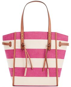 Tommy Hilfiger Emma Woven Rugby Canvas Tote