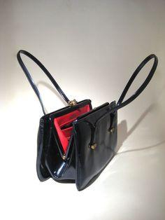 Vintage Rosart Bag  Blue Patent Leather/Vinyl $23.00