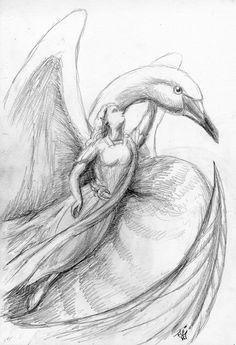 'Figurehead - Elven Swan Ship' by Jef Murray