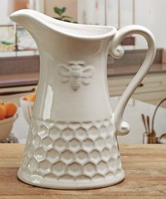 Another great find on #zulily! Embossed Honey Bee Pitcher #zulilyfinds