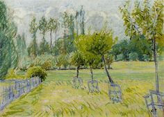 Study of Apple Trees at Eragny, c.1892 - c.1893 - Camille Pissarro - WikiArt.org