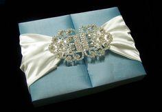 Blue Wedding Invitation Box