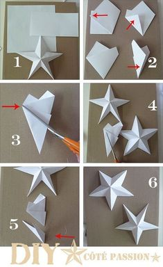 How to Make Paper Stars From Lunch Bags - Babble Dabble Do Ramadan Decorations, Star Decorations, Diy Paper, Paper Crafting, Diy For Kids, Crafts For Kids, Origami Design, Papier Diy, Christmas Crafts