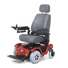 Dualer Powerchair by Merits Health. Very cool power chairs that allows you to rotate the seat 180* so you can go forwards or backwards and still be facing ront. It's perfect for tight spaces like restrooms and closets.