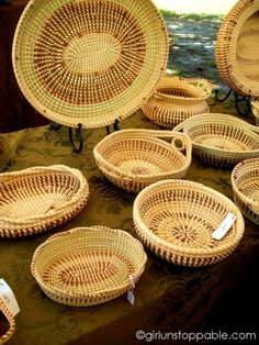 Image detail for -Charleston, South Carolina - Gullah Baskets