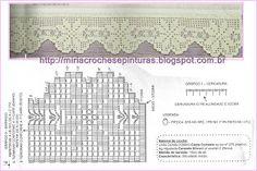 MIRIA CROCHÊS E PINTURAS: BARRADOS DE CROCHÊ COM FLORES PARA TOALHAS DE BANHO N°402