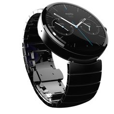 "Moto 360 by Motorola - This new smartwatch will be powered by Android wear, which was also announced today. Google now stuff like, ""Ok Google"", health and fitness monitoring, and the usual connection to your smartphone seems to be included in the pack. The round screen is nice BTW."