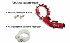 RKH-CNC 6mm Tail Motor Mount w/Delrin Protection (Red) - Blade mCP X/V2/mSR/mSR X/Nano CPX by Rakonheli. $16.14. RKH-CNC 6mm Tail Motor Mount w/Delrin Protection (Red) - Blade mCP X/V2/mSR/mSR X/Nano CPX. 1. Description: - Precision CNC of 6061 Aluminum alloy and Delrin. - Colorful anodizing with 2 options: Silver and Red. - Heat sink designed with large contact area help tail motor increase effeciency and cooler. - Delrin tail motor mount protection. - No cutting and ...
