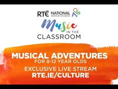 Back by popular demand,Musical Adventures, the RTÉ National Symphony Orchestra's fun concerts for children aged 8-12, presented by theacclaimed music animateur, presenter,broadcaster andgeneral master of musicalmayhem and lots offun, Mr Tom Redmond! Music Classroom, 12 Year Old, Concerts, Musicals, Popular, Adventure, Children, Fun, Young Children