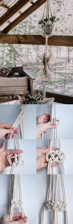 DIY plant net, super easy instruction for a nice decor, no more purchase, just one click and simple ropes, get your home the nicest decor.