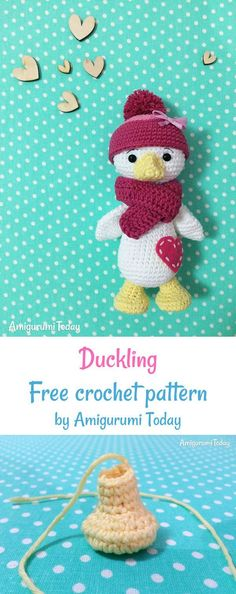 Amigurumi duckling pattern Crochet Duckling free crochet pattern by Amigurumi Today Pikachu Crochet, Crochet Animal Amigurumi, Crochet Animal Patterns, Crochet Doll Pattern, Stuffed Animal Patterns, Amigurumi Patterns, Crochet Toys, Crochet Animals, Crochet Crafts