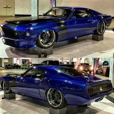 69 Mustang royal blue