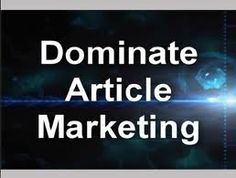Internet Article Marketing Strategies To Rank On The First Page Of Google