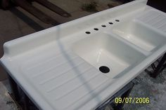 Custom Ceramic Coatings — that does actual REAL porcelain enameling (the baked-on kind) Read more: Real porcelain enamel coating to restore your drainboard sink, tub or stove — Retro Renovation