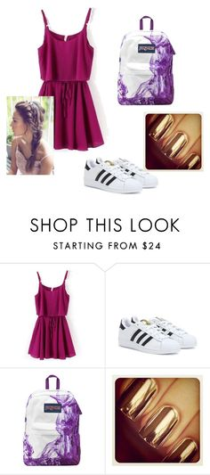 """At the park"" by niasoccer ❤ liked on Polyvore featuring adidas and JanSport"