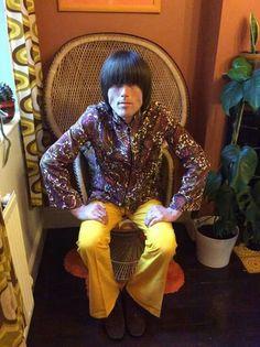 KuKu Creations kaftan and original loon pants worn by Peter Feely
