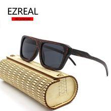 baadf1621 2016 New cool wooden Bamboo Sunglasses Men Wooden Sun glasses Women Brand  Designer Original Wood Glasses