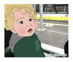 Junior fährt Zug
