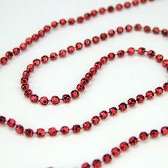 Northlight Just Right Bead Celestial Metallic Garland Color: Crimson Metallic