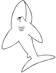 The shark coloring sheet of a cartoonish shark is a fantastic free coloring sheet for young kids who adore sharks. Shark Coloring Pages, Free Coloring Sheets, Baby Shark, Shark Shark, Clark The Shark, Shark Week Crafts, Camo Birthday, Shark Pictures, Shark Party