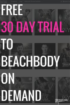 Click for your free 30 day trial! Beachbody On Demand is like Netflix but for Beachbody workouts! You even get ones you haven't bought! Improve your fitness, reach new goals, get stronger and lose weight with the 21 Day Fix, Insanity, P90X, Turbo Fire, Body Beast and many more!