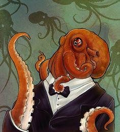 2 Octopus in tuxedo