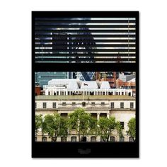Trademark Art 'Window View UK Buildings 3' by Philippe Hugonnard Photographic Print on Wrapped Canvas