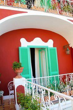 positano , Italy- Love the color combo here