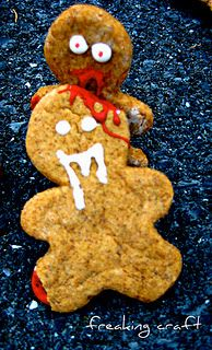 Gingerdead cookies - funny! From Freaking Craft