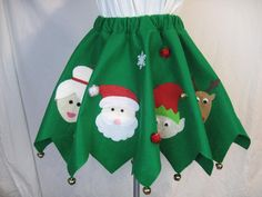 Ugly Tacky Christmas Sweater Party Skirt Santa by DicardomyHoliday