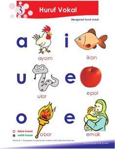 petua asas membaca Kindergarten Reading Activities, Preschool Learning Activities, Preschool Worksheets, Reading Worksheets, Phonics Words, Learning Letters, Kids Reading, Kids Education, Malay Language