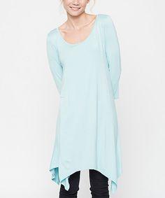 Look at this #zulilyfind! Light Blue Handkerchief Tunic #zulilyfinds