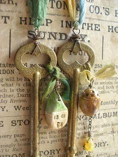 faery key necklaces