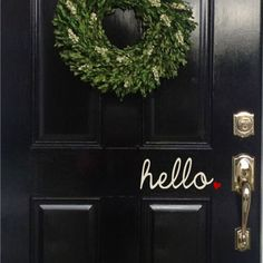hello. Vinyl lettering for your front door! Decal measures 4 x 8, but this version has a little heart as the period, perfect for Valentines Day,