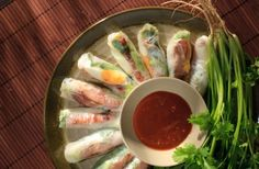 Pan-fried Pork Patty in Vietnamese Rice Paper Roll Recipe