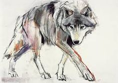 Image result for wolves hunting art