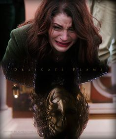"""""""You're going to regret it, forever. And all you'll have left is a empty heart.And a chipped cup. Belle And Rumplestiltskin, Rumple And Belle, Rumpelstiltskin, Emilie De Ravin, Robert Carlyle, Once Upon A Time, Belle French, Snowbarry, The Dark One"""
