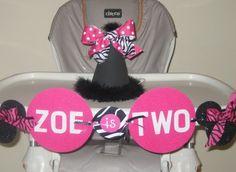 Minnie Mouse Zebra High Chair Idea by JenniMay87