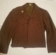 WW2 1944 U.S. Army Wool Field Jacket O.D Phila Q.M Depot Size 36S USA 24105a413