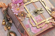"""What A Beautiful Mess: """"Tales Of You and Me"""" Memory Hardware Journal - Gatefold /Frank Garcia Design Team"""