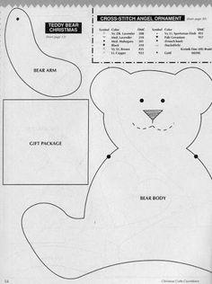 Toalha Natalina: Aplique de Urso