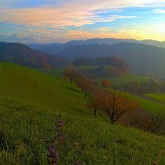#wynigen #ferrenberg #swisslandscape #switzerland #alpview #autumn #emmental #bestview #tree #skyporn #meadow #amazingnature #naturelover #photooftheday by crealela Felder, Amazing Nature, Switzerland, Shots, Hipster, Sky, Autumn, River, Mountains