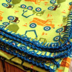 Easy crochet edged baby blankets.