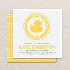 Boy Baby Shower Invitation  Duck Baby Shower by EllisonReed, $16.00